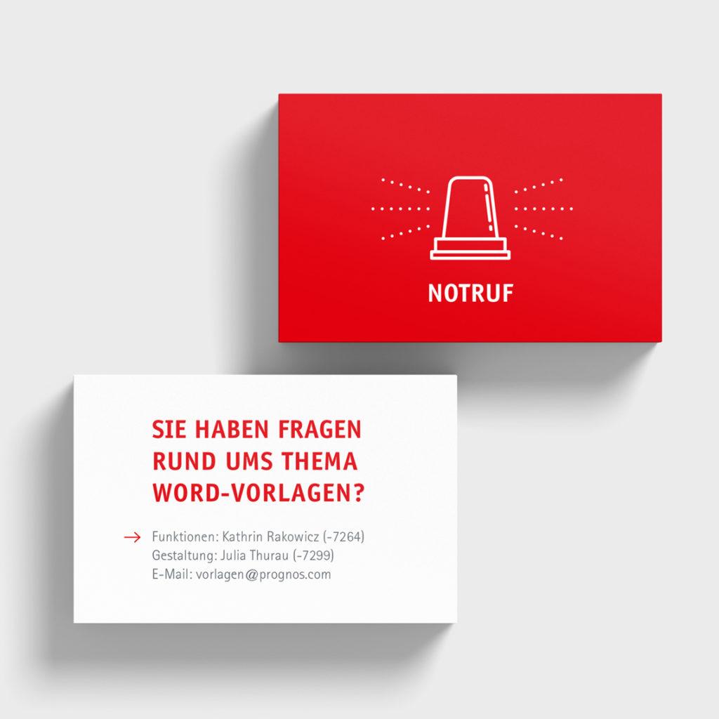 Notrufkarte (Prognos, Word, CD)