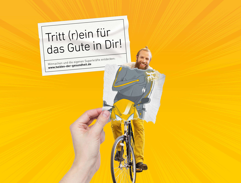 Radfahren - Helden der Gesundheit (BAHN-BKK, Kampagne)
