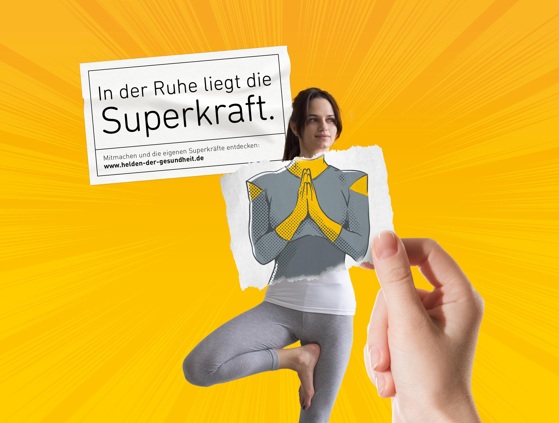 Entspannung - Helden der Gesundheit (BAHN-BKK, Kampagne)