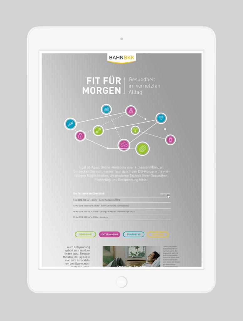 Landingpage - Digitalisierung (BAHN-BKK, Kampagne)