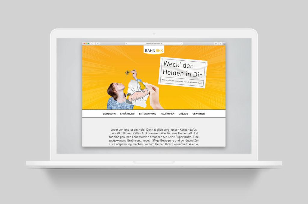 Landingpage - Helden der Gesundheit (BAHN-BKK, Kampagne)