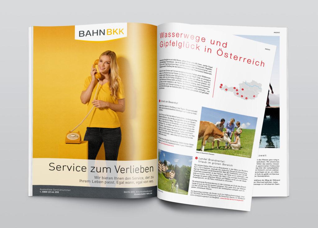 Anzeige – Service (BAHN-BKK, Marke)