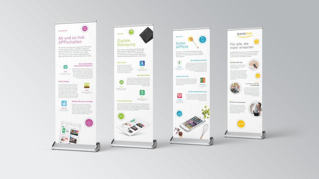 Roll-Ups - Digitalisierung (BAHN-BKK, Kampagne)
