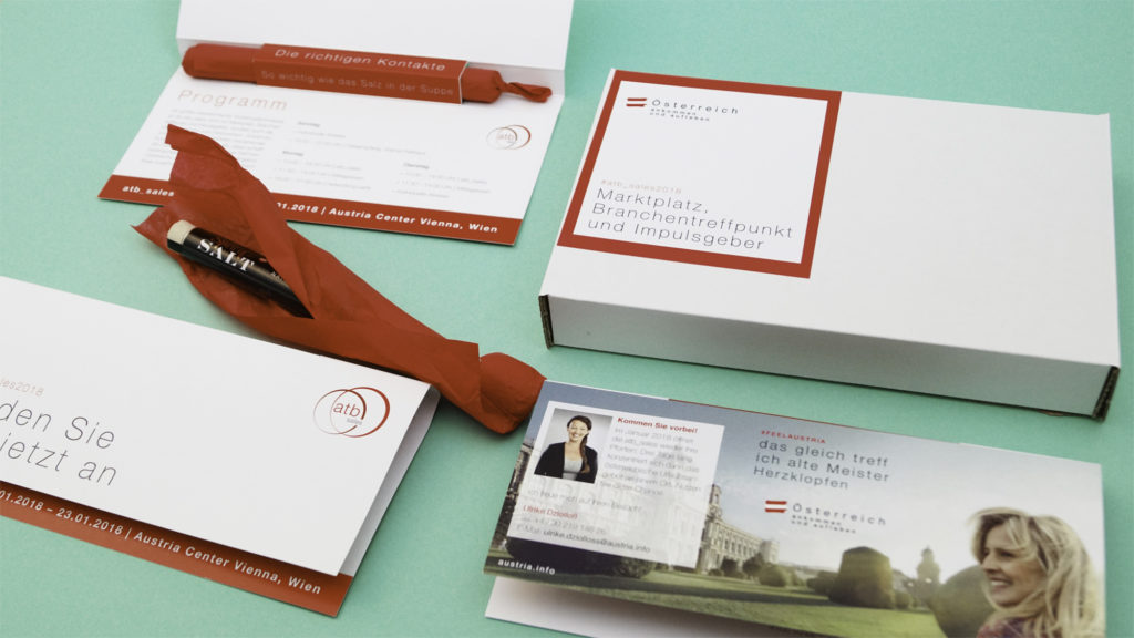 Einladung ATB (Österreich Werbung, Grafikdesign)