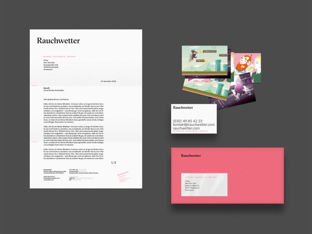 Geschäftsausstattung (Rauchwetter, Corporate Design)