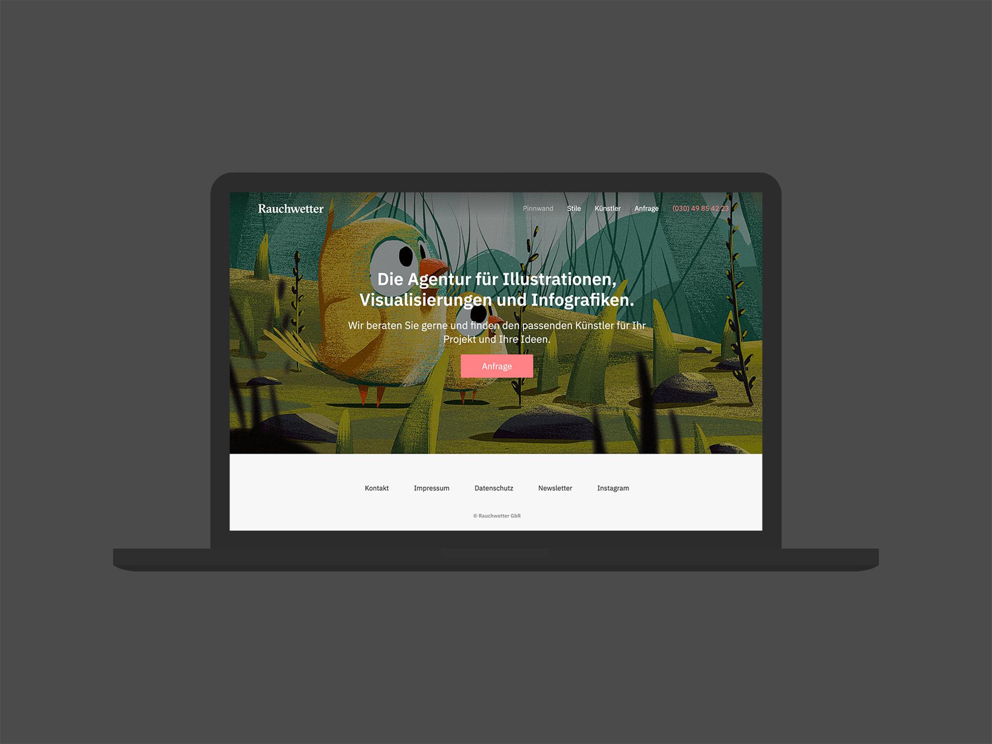 Web 01 (Rauchwetter, Corporate Design)