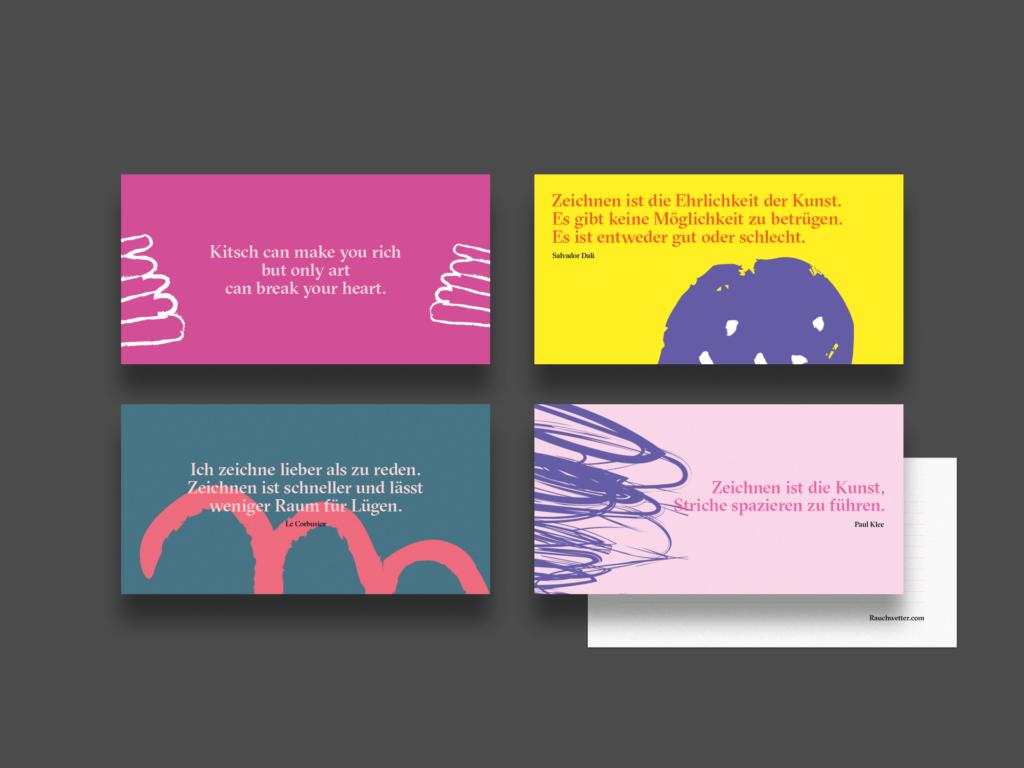 Grußkarten (Rauchwetter, Corporate Design)