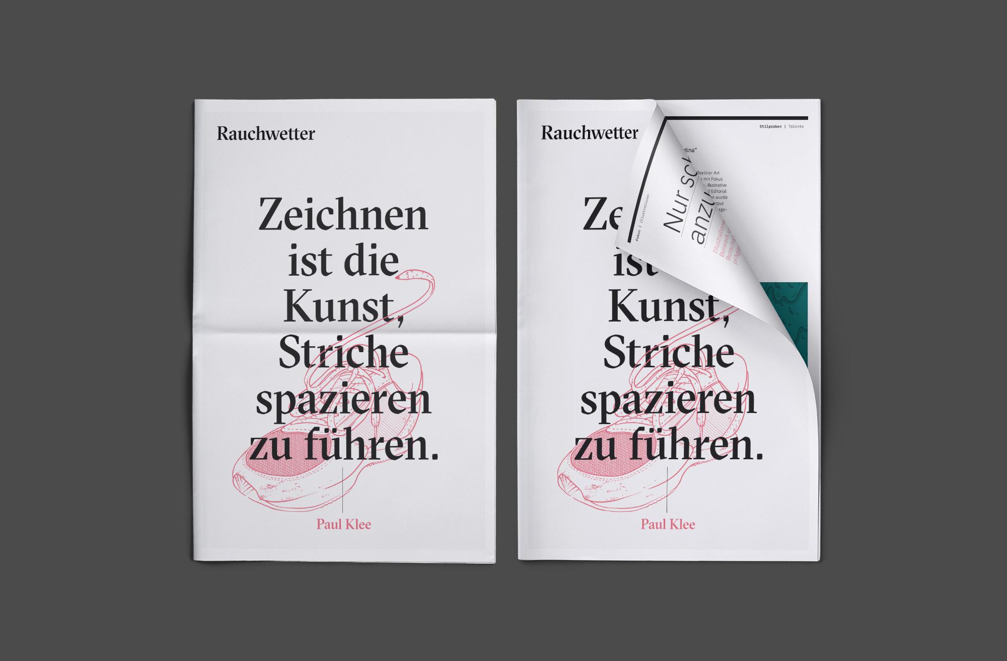 Zeitung 01 (Rauchwetter, Corporate Design)