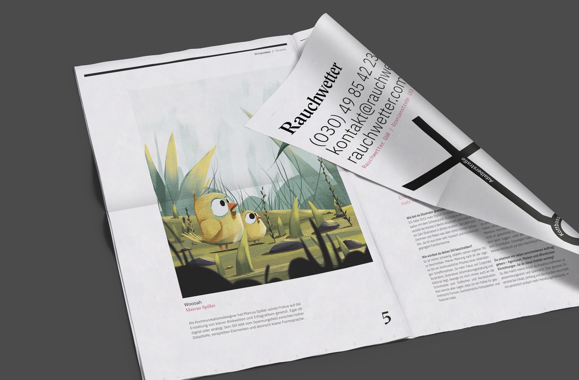 Zeitung 02 (Rauchwetter, Corporate Design)