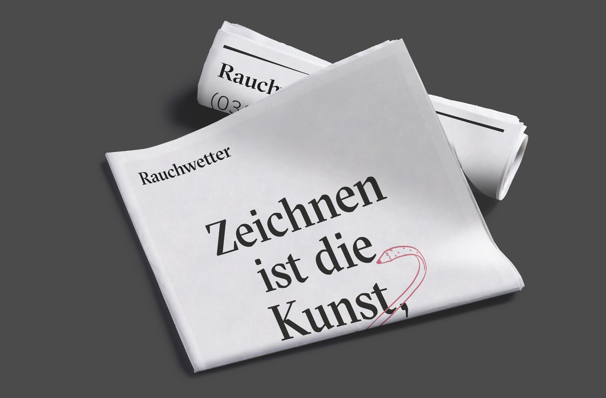 Zeitung 03 (Rauchwetter, Corporate Design)