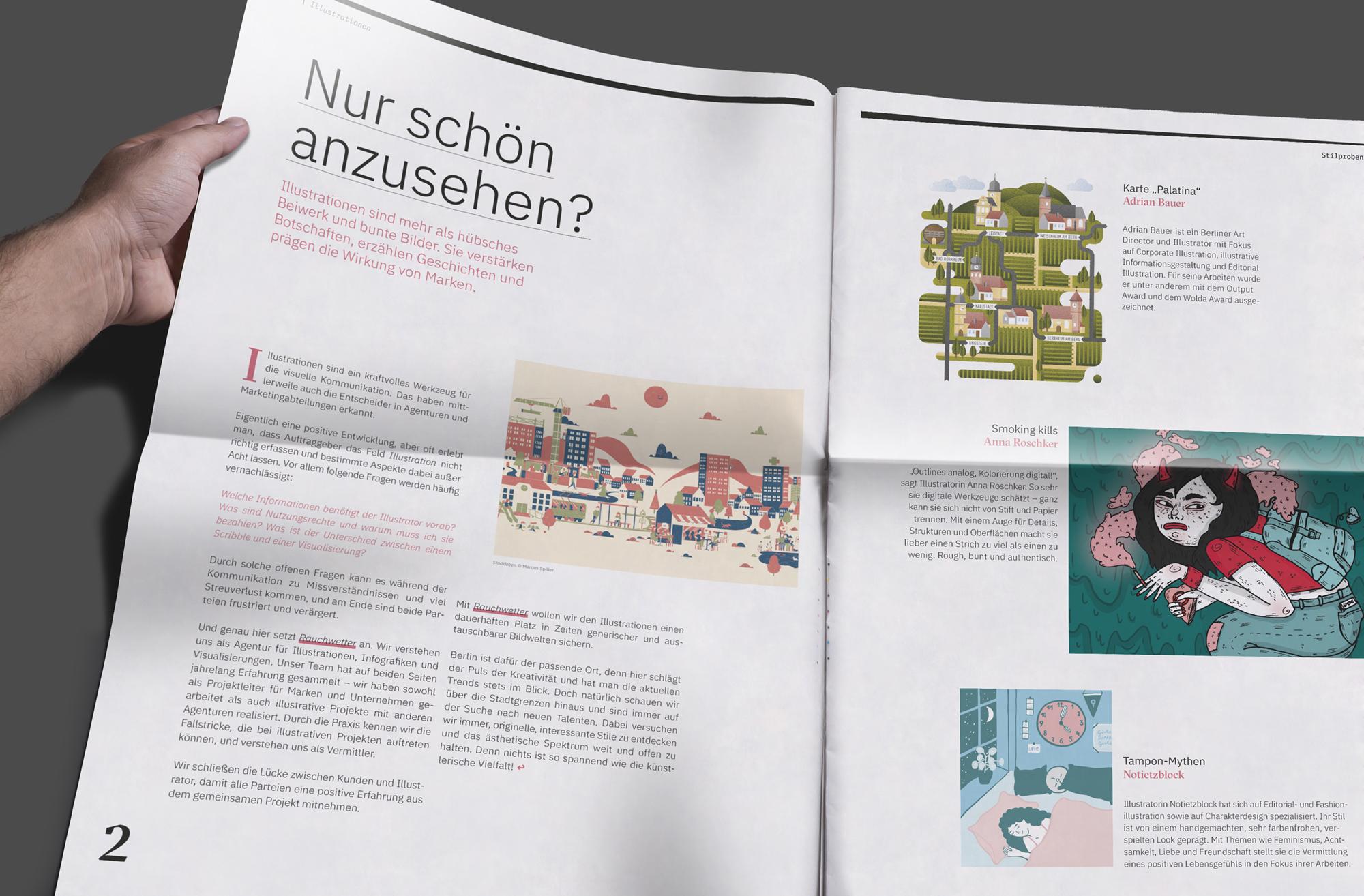 Zeitung 04 (Rauchwetter, Corporate Design)