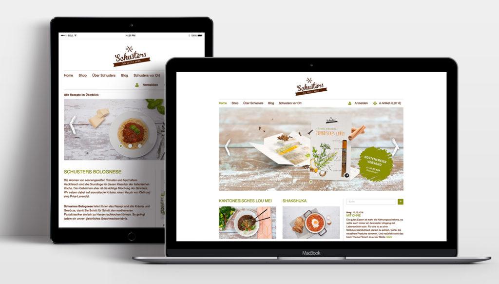 Webseite (Schusters Würzerei, Markenauftritt)