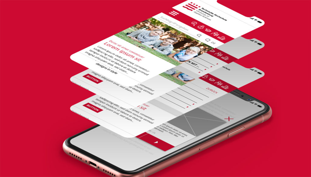 Online Corporate Design der THB