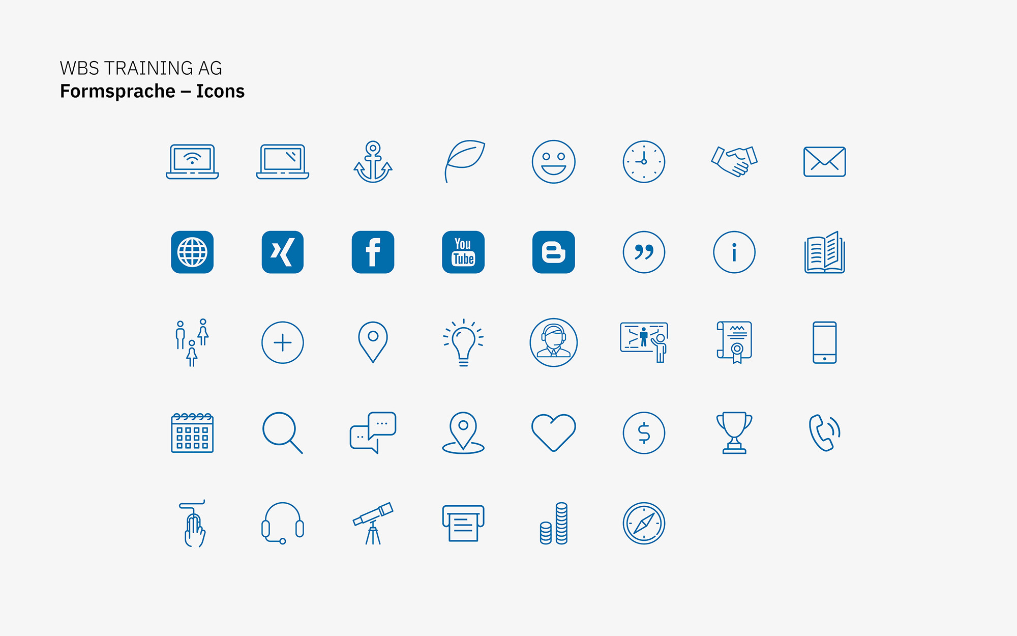 Corporate Design – Icons (WBS, Markenkommunikation)