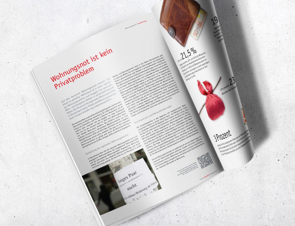 Trendletter – Doppelseite (Prognos, Editorial Design)