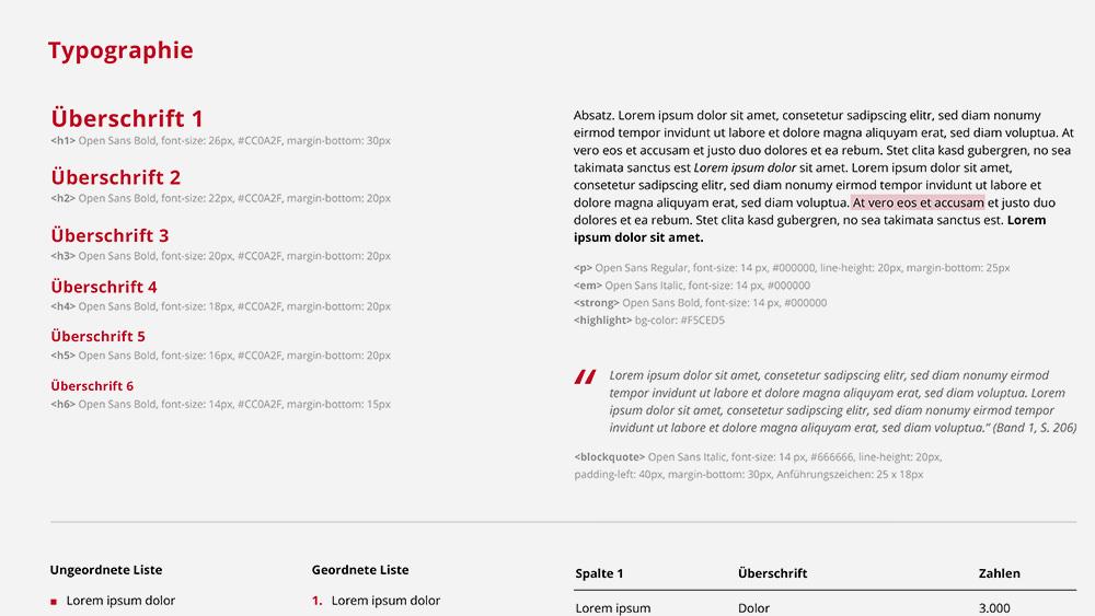 Typographie (Technische Hochschule Brandenburg, Corporate Design)