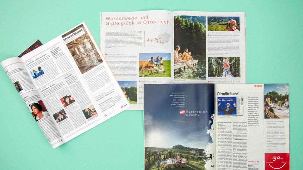 Anzeigen (Österreich Werbung, Grafikdesign)