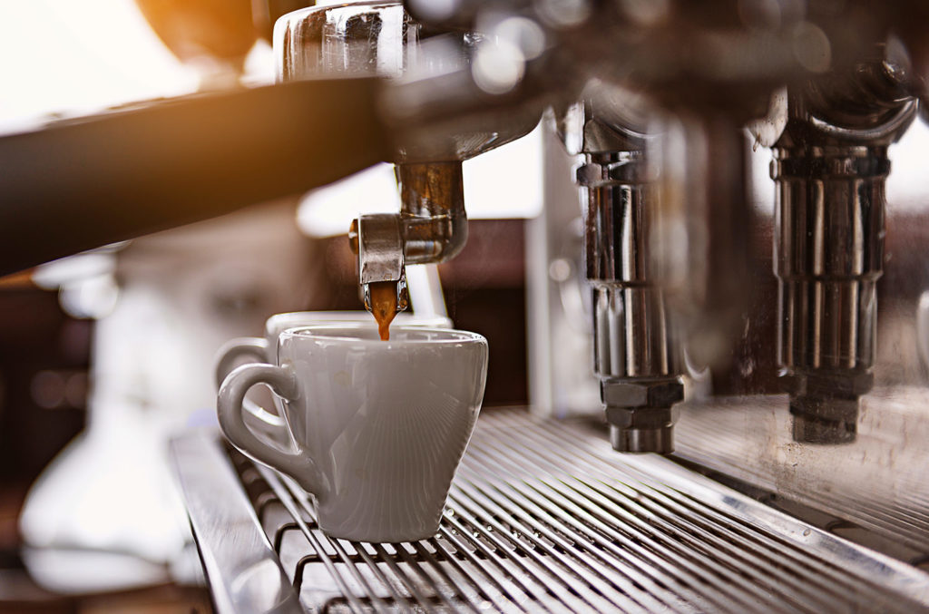 Mood Kaffeemaschine (Quentic, Messestand)
