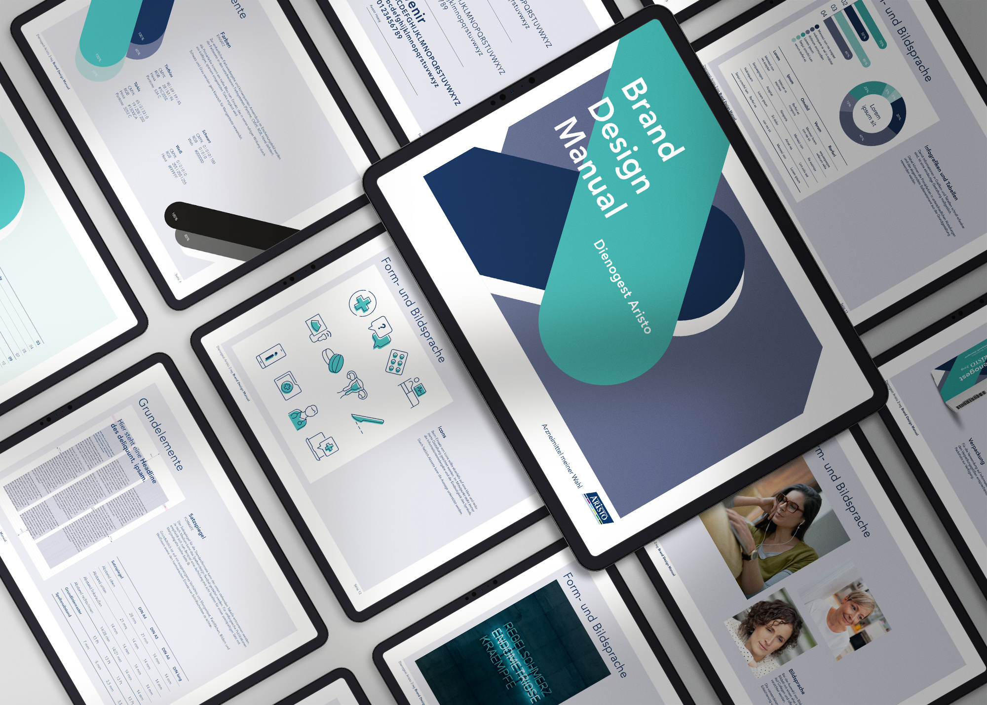 Brand Design Manual (Aristo, Kampagne Dienogest)