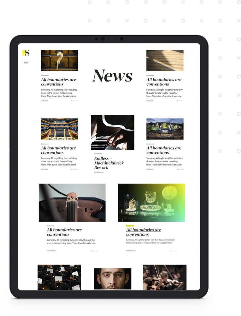 Screen: News (PS Music, Webseite)