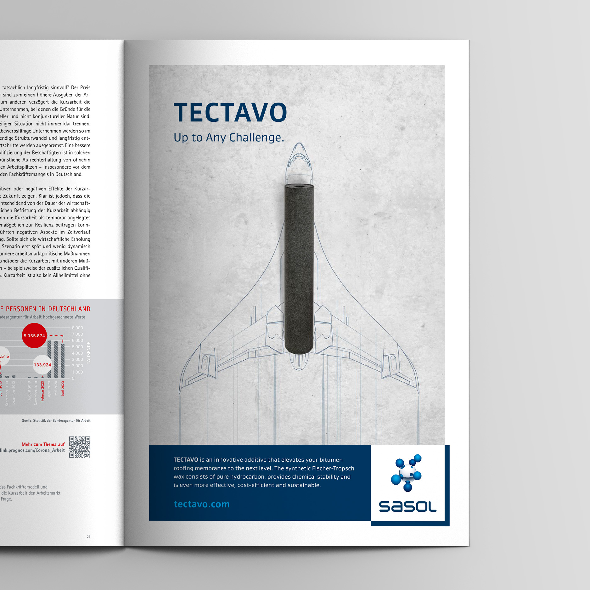 Keyvisual – Anzeige allgemein (Sasol, Tectavo Productlaunch)