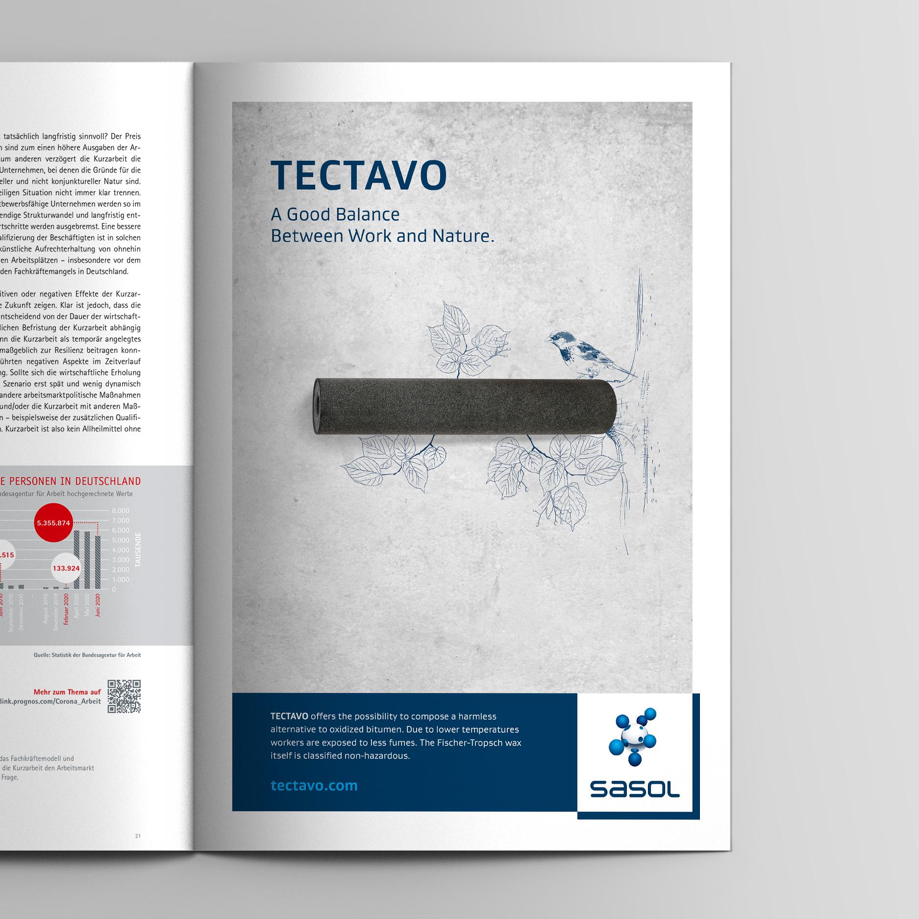 Keyvisual – Anzeige Nachhaltigkeit (Sasol, Tectavo Productlaunch)