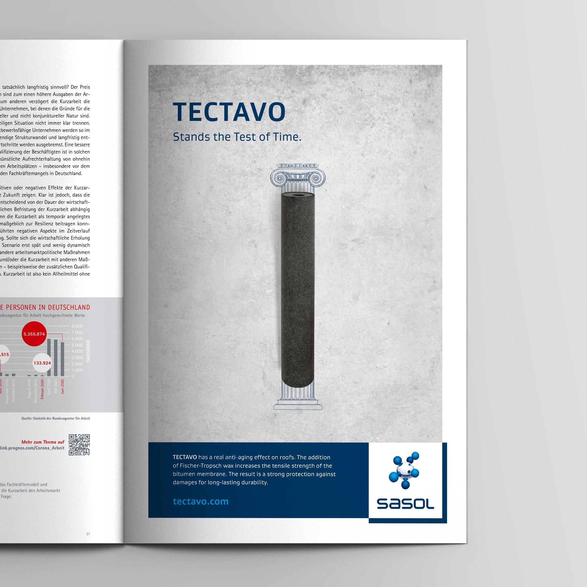 Keyvisual – Anzeige Langlebigkeit (Sasol, Tectavo Productlaunch)