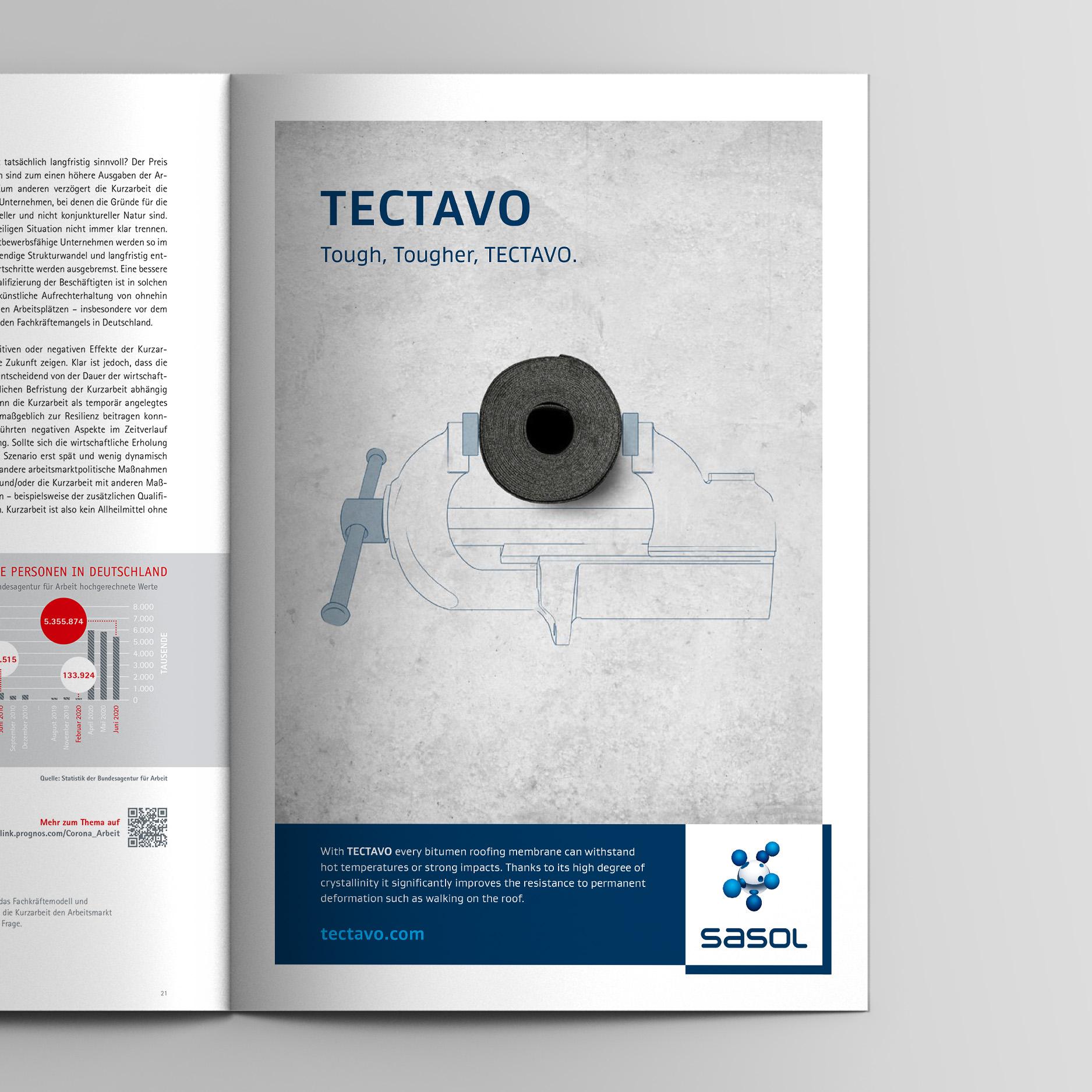 Keyvisual – Anzeige Widerstandsfähigkeit (Sasol, Tectavo Productlaunch)
