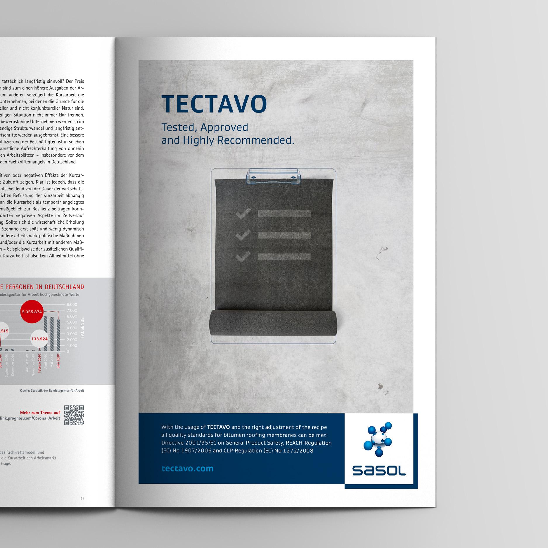 Keyvisual – Anzeige Reglementierungen (Sasol, Tectavo Productlaunch)
