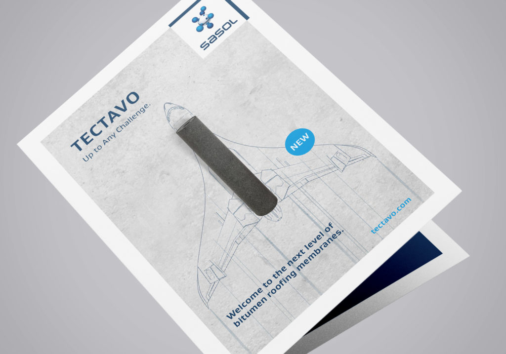 Produktinformationsflyer Titel (Sasol, Tectavo Productlaunch)