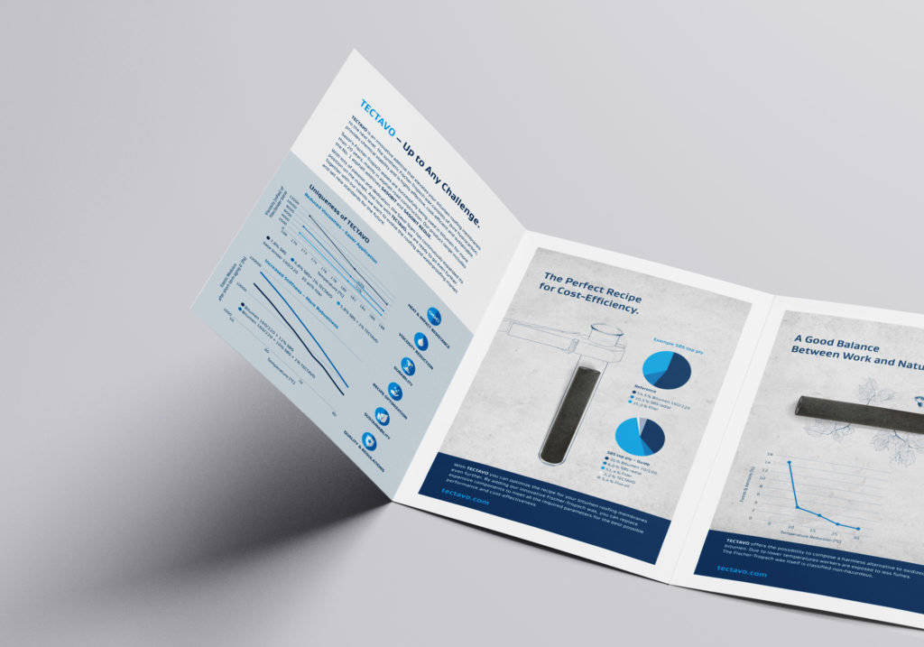 Produktinformationsflyer Innenseiten (Sasol, Tectavo Productlaunch)