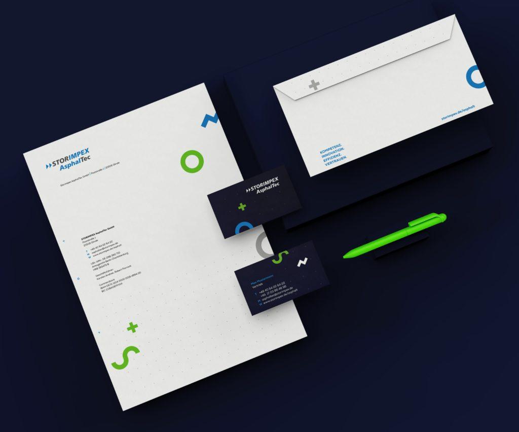 Geschäftsausstattung (Storimpex Asphaltec, Corporate Design)