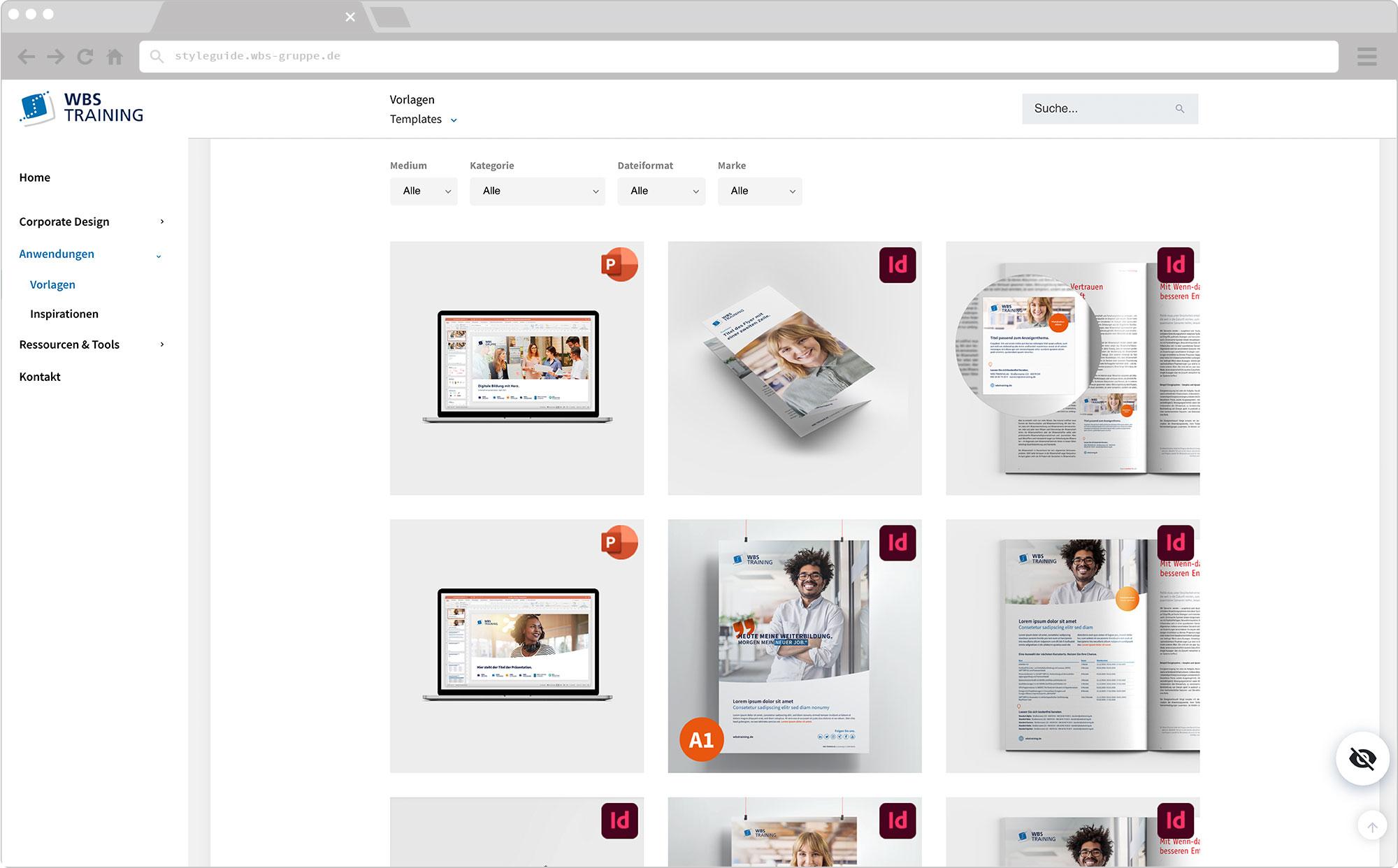 WBS Update 2021 / Slider, Screen wirHub Brand Manangement – Templates